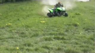 2. Kawasaki KFX 700 Drift  Wheely  Drifting