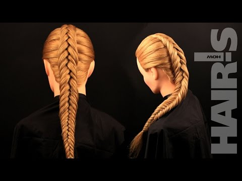 How to do an inverted fishtail braid hairstyle