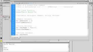 Flash CS6 Actionscript for Beginners - Variables