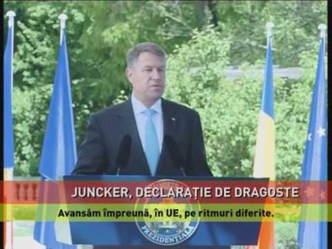 Juncker, declaraţie de dragoste