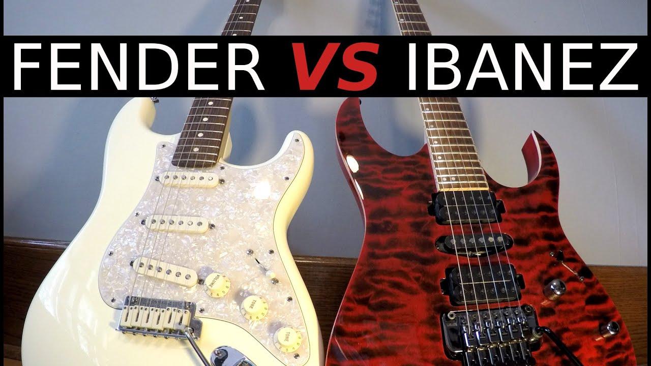 FENDER vs IBANEZ – Guitar Tone Comparison!