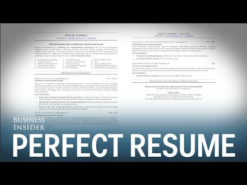 A résumé expert reveals what a perfect résumé looks like