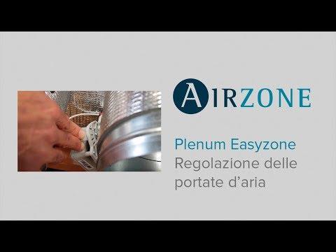 Plenum Easyzone: regolazione delle portate d´aria