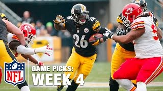 Game Picks in 60 Seconds (Week 4) | NFL Now by NFL