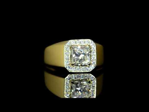 CGL Certified 1.65ct Princess Cut Canadian Diamond Ring