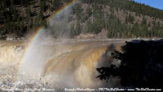 Kootenai river falls between Troy and Libby Montana during the Spring run off 2017. The spray from the water created many rainbows.