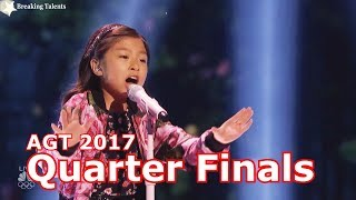 Celine Tam w Judges Comments Quarter Finals America's Got Talent 2017 Live Round 2 America's Got Talent Official site: ...