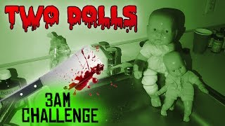 (GONE WRONG) 3 AM OVERNIGHT CHALLENGE 3 // ONE MAN HIDE AND SEEK WITH TWO HAUNTED BABY DOLLS!