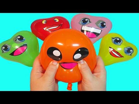 Шарики с водой Учим цвета Развивающее видео Детям Лопаем Воздушные шарики Поем песню Семья пальчики (видео)