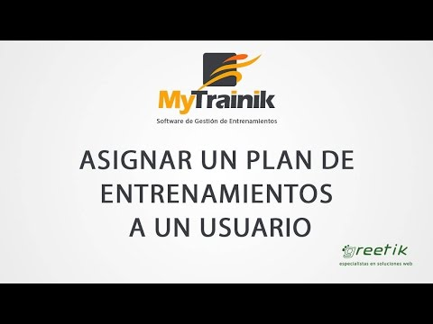 MyTrainik. Asignar un plan de entrenamientos a un usuario