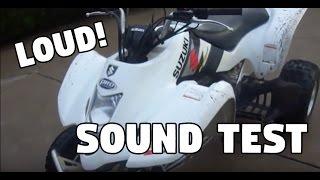 6. 2004 Suzuki LTZ400 Startup video HMF Sound TEST!!!***