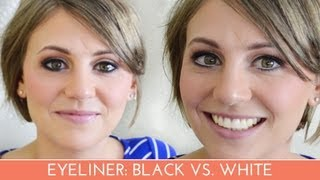 I'll show you the difference between using a black eyeliner or a white eyeliner in the waterline.-----------------------------------------------------------CONNECT WITH ME-----------------------------------------------------------facebook: http://www.facebook.com/Always-Blushingblog: http://www.alwaysblushing.com/
