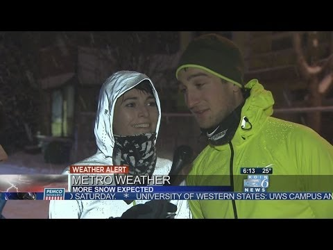 Jogger Falls After Talking About Running In The Snow