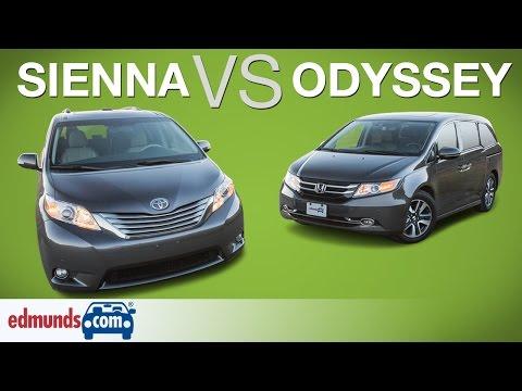 Honda Odyssey vs Toyota Sienna – Edmunds A-Rated Minivans Face Off