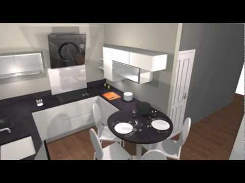 Exemple de simulation vido Projet cuisine 3D