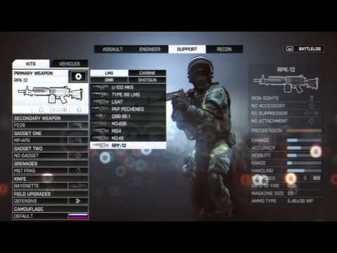 Battlefield 4   SLICE & DICE ep.8   Support weapons & gadgets