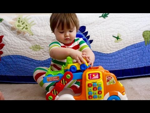 Fun Playtime VTech Pull and Learn Car Carrier Pull Toy