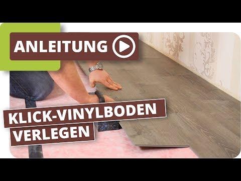 Klick-Vinylboden verlegen Anleitung