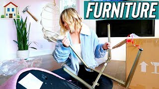 Building new furniture! Vlogmas Day 7 by Alisha Marie Vlogs