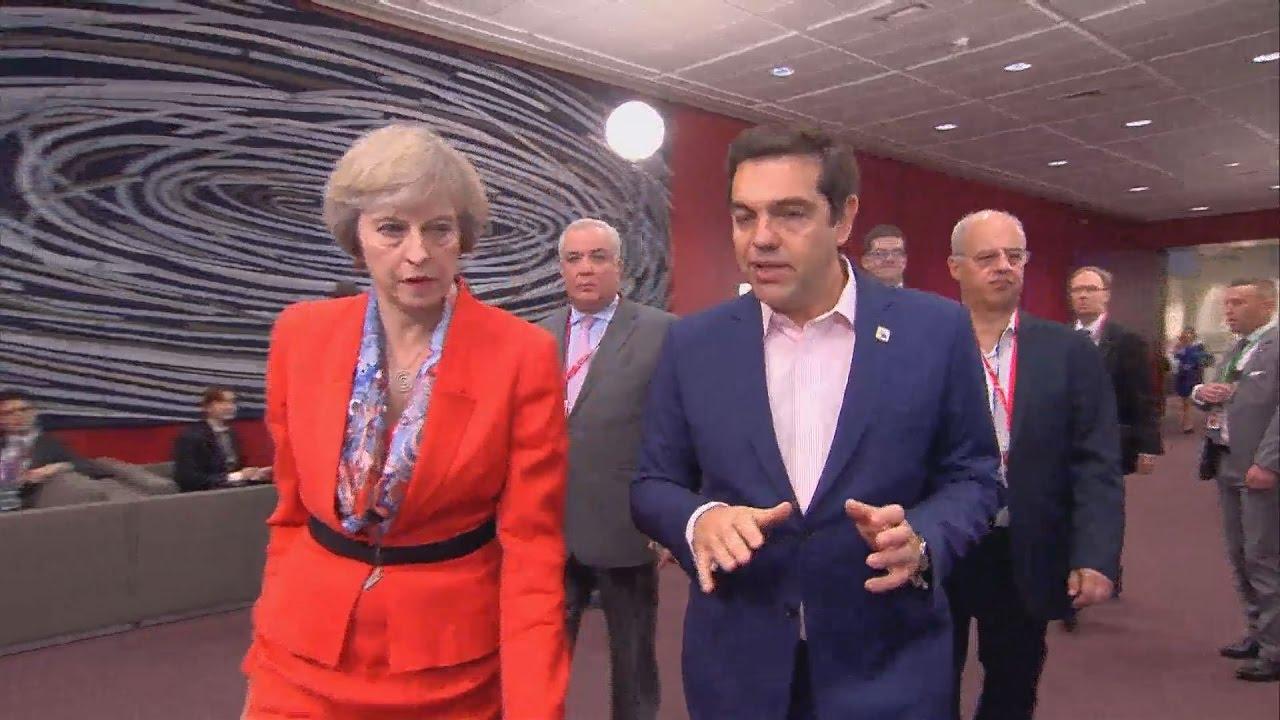Εσωτερικά πλάνα από την σύνοδο κορυφής της ΕΕ, στις Βρυξέλλες