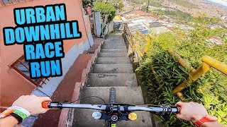 Video CRAZY URBAN MTB DOWNHILL TRACK - FULL RACE RUN! MP3, 3GP, MP4, WEBM, AVI, FLV Juli 2019