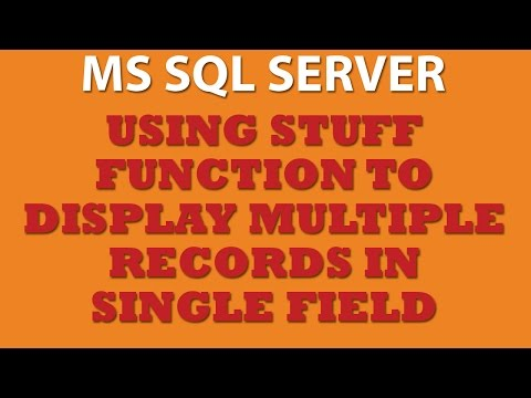 Querying MS SQL Server: Using STUFF Function (Trans-SQL)