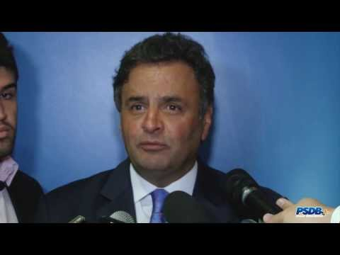 Aécio fala sobre reunião com diretórios estaduais e eleições 2014