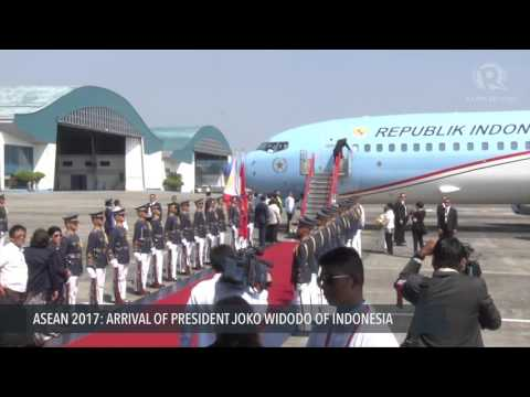 ASEAN 2017: Arrival Of Joko Widodo, President Of Indonesia