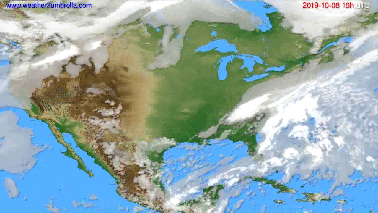 Cloud forecast USA & Canada // modelrun: 00h UTC 2019-10-06