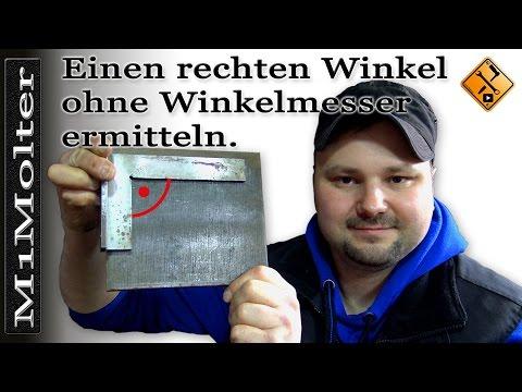 Einen rechten Winkel ohne Winkelmesser ermitteln von M1Molter