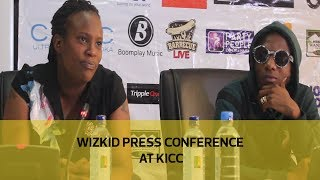 Nigerian superstar Wizkid addressing a press conference earlier today. He is set to perform at the Barbecue Live Festival tonight...
