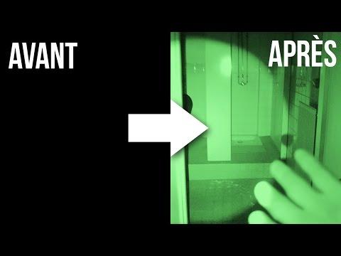 Filmer dans le noir complet avec une caméra à vision nocturne