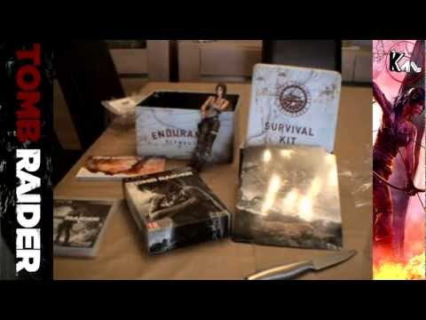 Unboxing Tomb Raider Survival Edition Deluxe - Ps3 (Euro Version Collector deluxe)