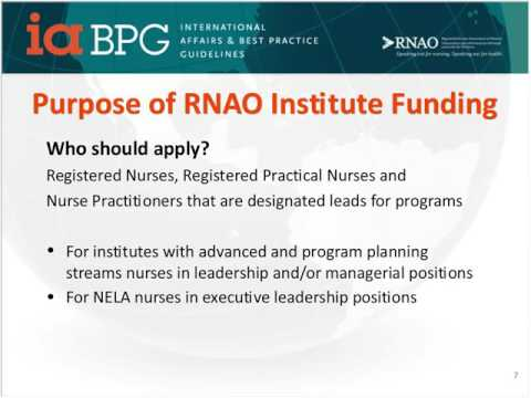 How long-term care homes can access funding for RNAO Institutes