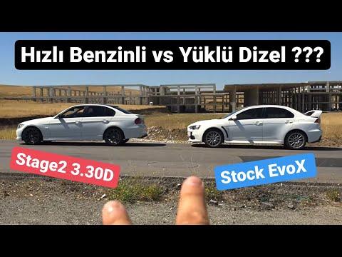 Stock Mitsubishi EvoX vs Stage 2 Bmw E90 3.30D - Roll + Drag + Yusuf Abi