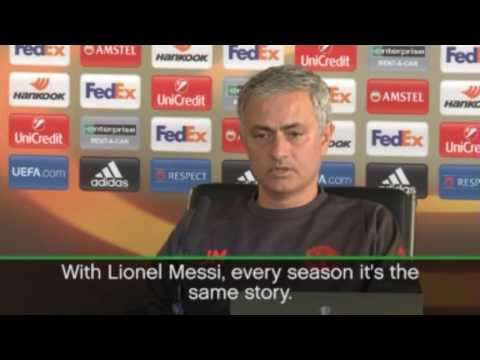 Mourinho wants Messi to never leave Barcelona (видео)
