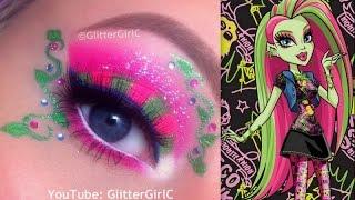 Monster High's Venus McFlytrap Makeup Tutorial - YouTube