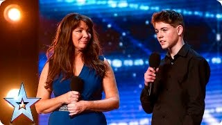 BGT Audition: Mother and Son Mel and Jamie bring their special bond