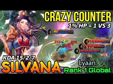 Silvana Amazing 1v3 Counter Gank! - Top 1 Global Silvana by Lyaan. - MLBB