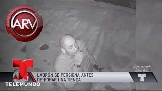 Ladrón se persignó antes de robar una tienda | Al Rojo Vivo