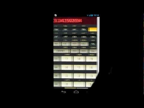 Video of HP-45 scientific calculator