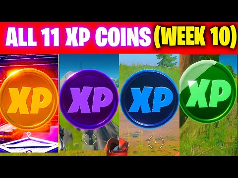 All XP COINS LOCATIONS IN FORTNITE SEASON 4 Chapter 2 (WEEK 10)