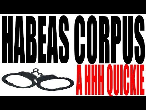 Habeas Corpus Explained in One Minute