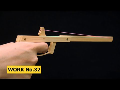 Semi-Auto with Needle-Hook, 2 rounds Rubber Band Hand Gun/ oggcraft.jp