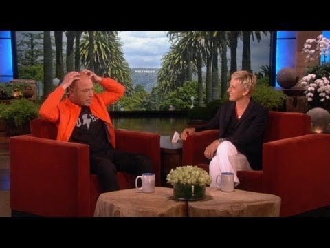Howie - The famously bald comedian told Ellen about his dreams for a new hairstyle.