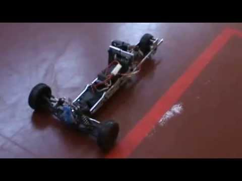 Tilting RC Model Vehicle - Three Wheeled Tilting test