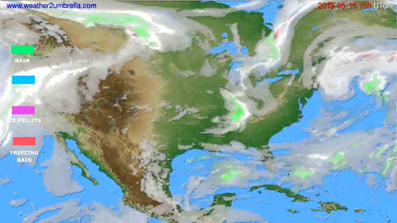Precipitation forecast USA & Canada // modelrun: 12h UTC 2019-05-12