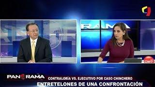 Contralor General Edgar Alarcón brinda entrevista a Panorama (Canal 5)