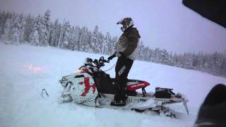 11. pro rmk 600 and rmk assault 800 - flatland deep snow