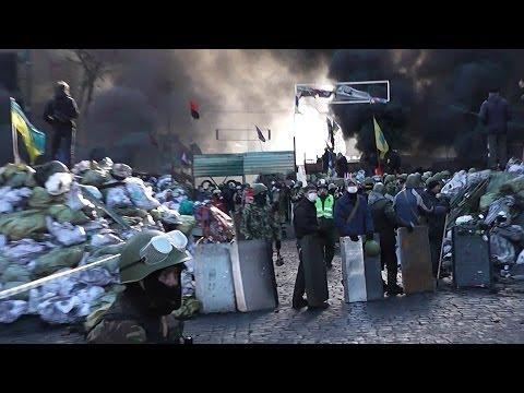 18.02.2014 ул. Грушевского г.Киев (видео)